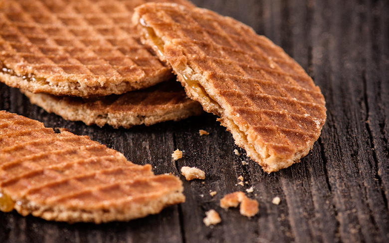 Amsterdam Waffles Dutch Stroopwafels With A Delicious Syrup Filling